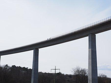 Bridge, High, Building, Road, Bridging, Bridge Piers