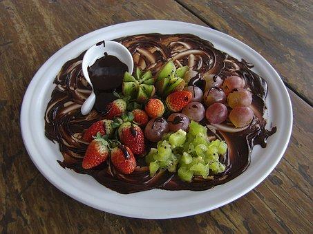 Chocolate, Grapes, Strawberry, Dessert, Gastronomy