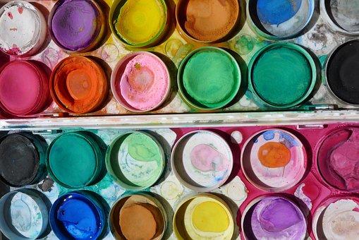 Paint, Art, Paintbox, School Kids, Creative, Artistic