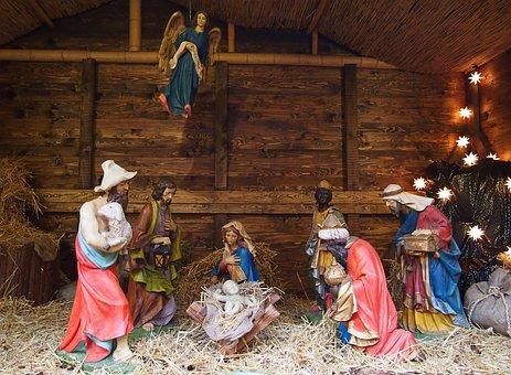 Crib, Christmas Market, Father Christmas, Christmas