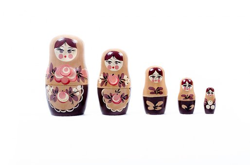 Doll, Russian, Russia, Moscow, Game, Souvenir, Bundle