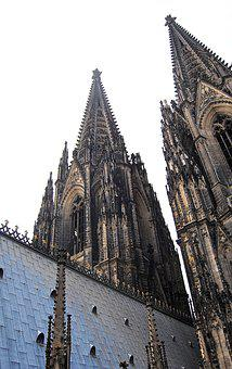 Double Tower, Towers, Bell Tower, Gothic, Cologne, Dom