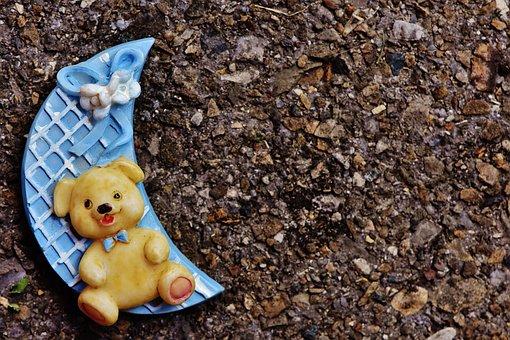 Birth, Boy, Moon, Bear, Teddy, Happy, Event, Baby