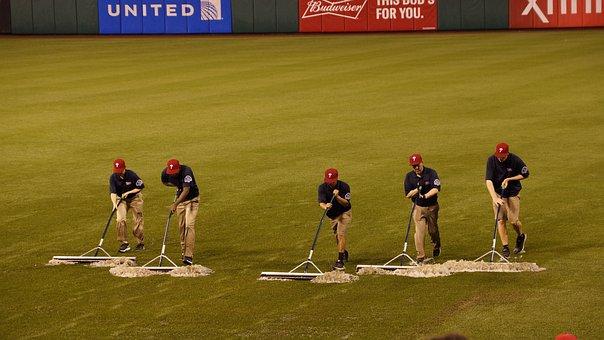 Baseball, Rain, Field, Wet, Dry, Clean-up, Water, Flood
