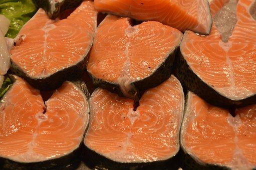Salmon, Fish Market, Food, Market Stall, Sea Animals