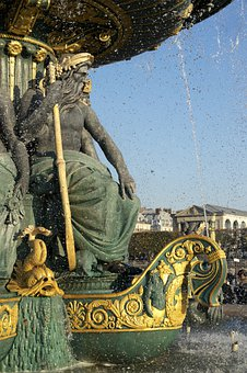 Fountain, Place De La Concorde, Paris, Water Games