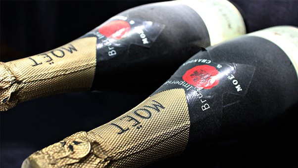 Champagne, Champagne Bottles, Hatching, Bottles, France