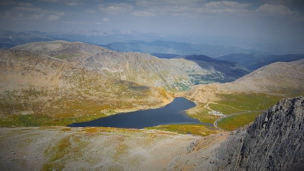 Mt Evans, Lake, Heart, Colorado, Sky, Rocky, Mountain