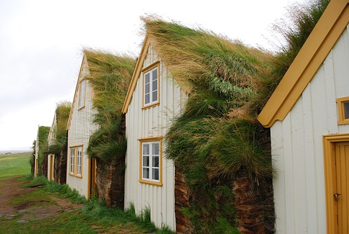 Iceland, House, Ethnographic Open Air Museum, Glaumbær