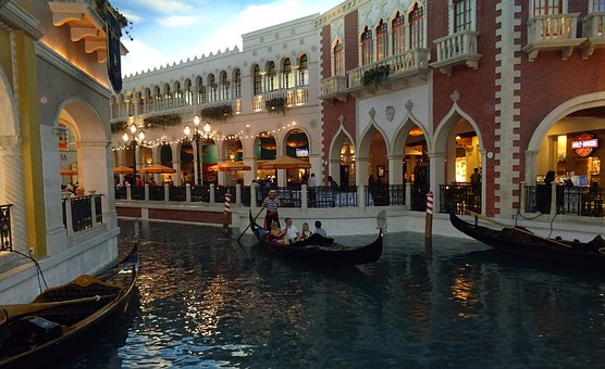 Las Vegas, City, Venetian, Canal, Grand Canal