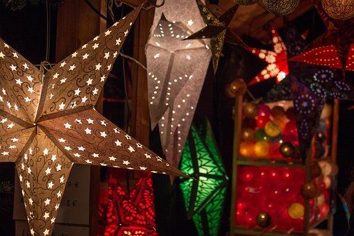 Christmas Market, Lighting, Star, Christmas, Light