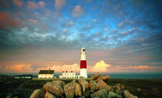 Lighthouse, Portland, Weymouth, Light, Ocean, Maine