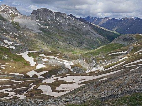 Alps Summer, Snow Reste, High Position, Maritime Alps