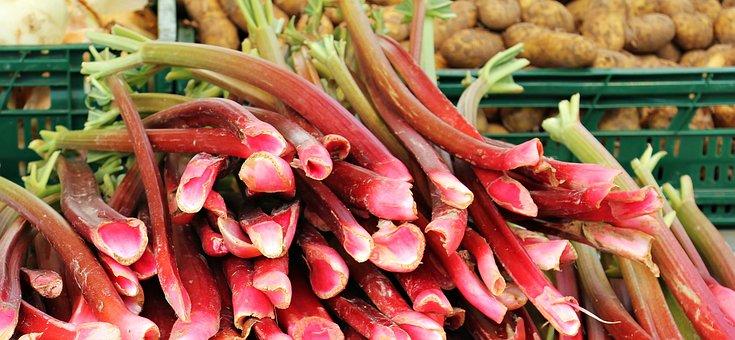 Rhubarb, Farmers Local Market, Market, Market Stall