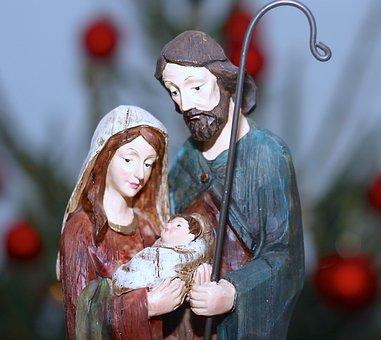 Merry Christmas, Nativity Scene, Baby Jesus, Bethlehem