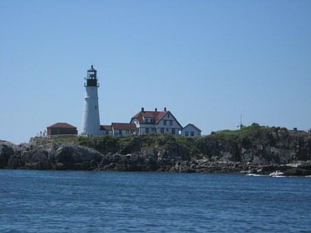 Maine, Lighthouse, Northeast, Attraction