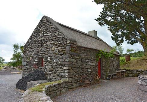 Stone House, Irish, Simply, Old, Cottage, Historically