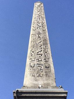 Obelisk, Ornament, Place De La Concorde, Paris, Stone