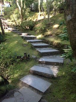 Portland Japanese Garden, Stairs, Stone, Path