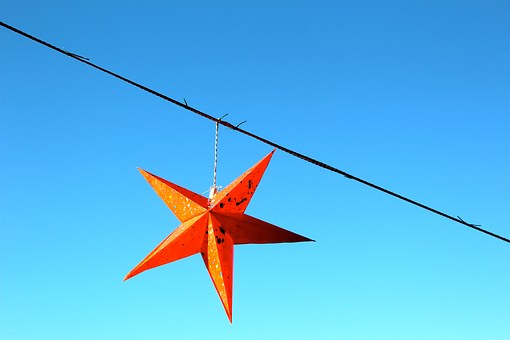 Star, Red, Christmas, Poinsettia, Deco, Bethlehem