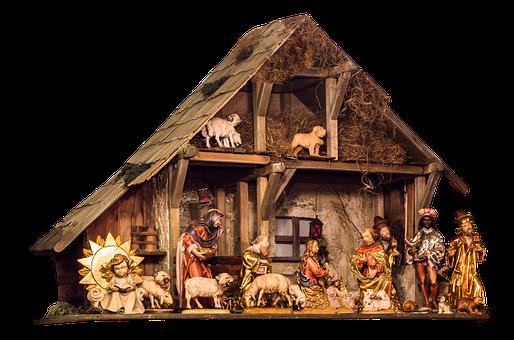 Crib, Assembly, Christmas, Father Christmas, Santon