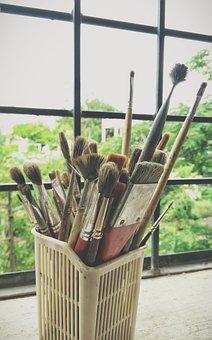 Life, Beauty, Scene, Artist, Painter, Art, Brushes