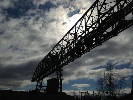 Crane, Sky, Silhouette, Sun, Winter, Bethlehem Pa