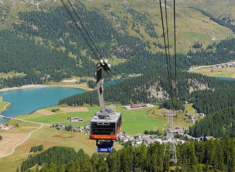 Cable Car, Corvatsch, Silvaplana, Encounter, Cabin