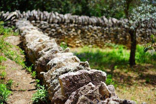 Wall, Stone Wall, Dry Stone Masonry, Stones, Piled Up