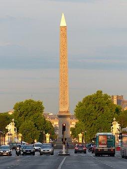 Obelisk, Place De La Concorde, Paris, Sun