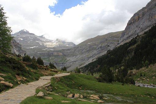 Mountain, Valley, Nature, Landscape, Monte Perdido