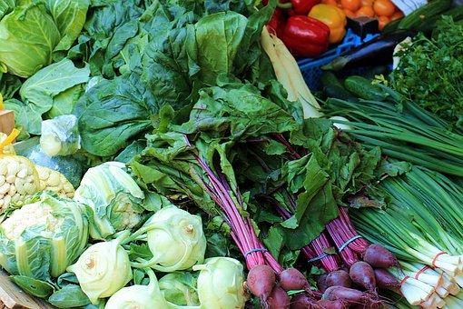 Spring, Vegetables, Fresh, Market, Called Rothmans