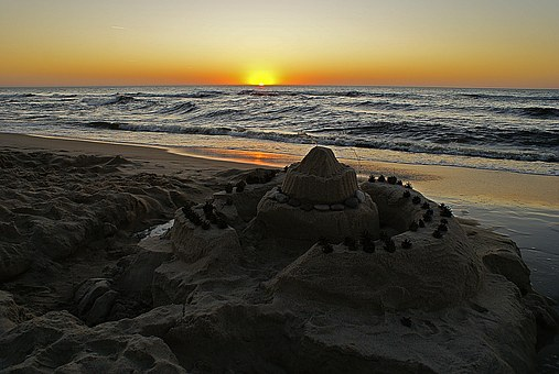 Sunset, Sea, Beach, Water, Twilight, The Darkness, Sand