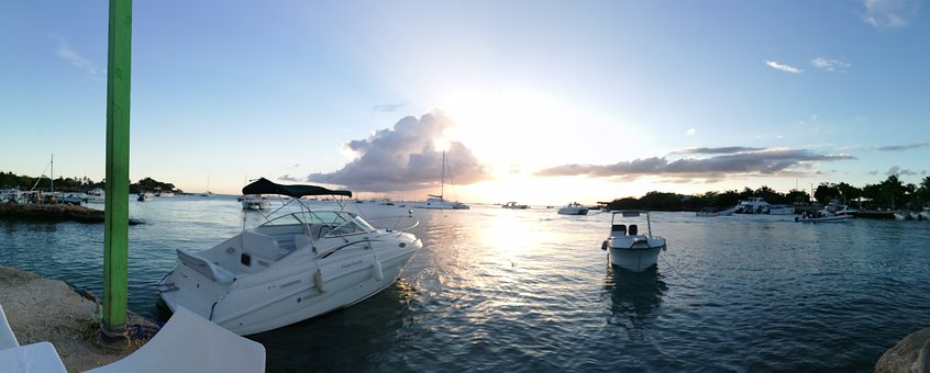 Sunset, Marine, Boat, Yacht, Water, Sea, Travel