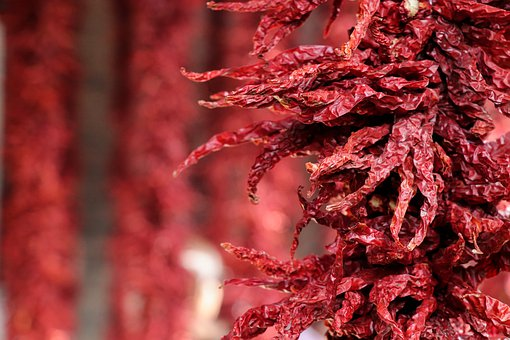 China, Shaanxi Province, Xi'an, Red Pepper, Folk, Red