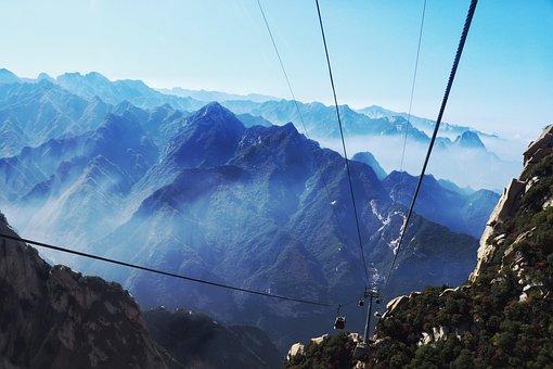 China, Shaanxi Province, Pinus Armandii, Mountain