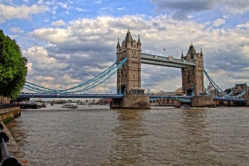 Tower, Bridge, Thames, River, Landmark, England, London