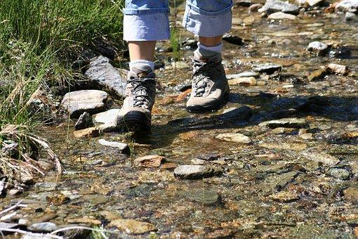 Hiking, Shoes, Go, Legs, Hiking Shoes