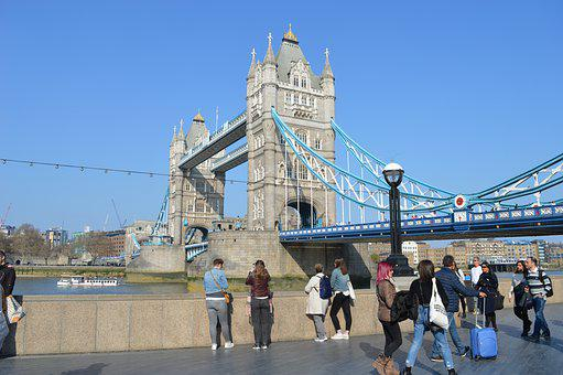 London, Tower Bridge, Sky, Blue, Bridge, England, City
