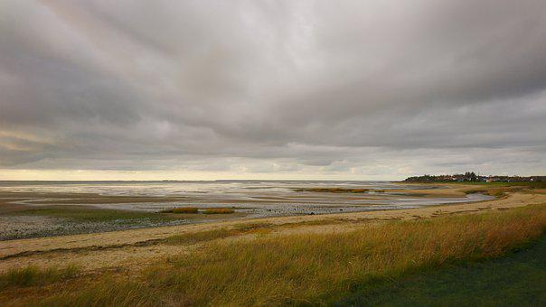 Wadden Sea, West Coast, Denmark, Natural, Sky