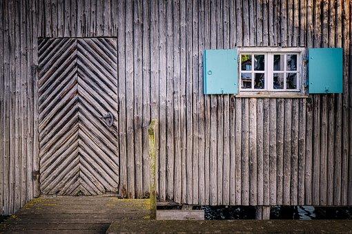Wooden Wall, Scale, Boat House, Window, Wooden Slats