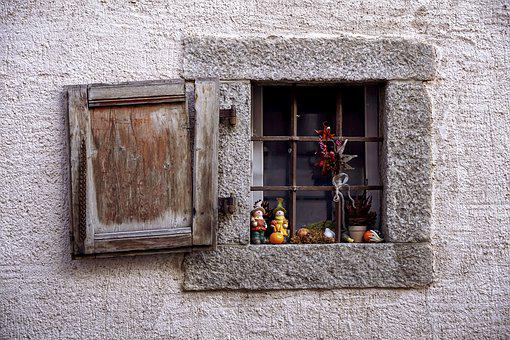 Autumn, Autumn Decoration, Window, Small Window, Grate