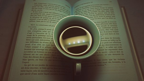 Coffee, Book, Morning, Notebook, Read, Cafe, Restaurant