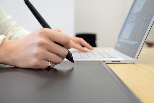 Graphics Tablet, Drawing, Laptop, Digital, Designer