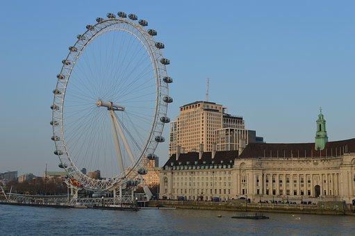 London, London Eye, Ferris Wheel, City, England, Uk