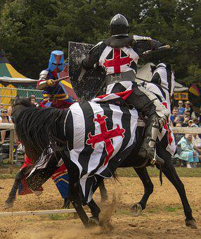 Joust, Jousting, Combat, Knight, Armor, Medieval, Lance