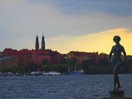 Riddarholmen, Sweden, Cityscape, City View, Bank