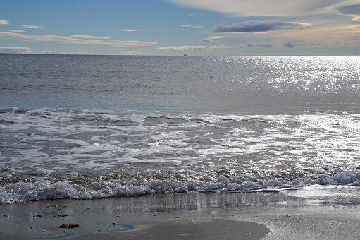 Sea, Wave, Horizon, Sky, Beach, Sides, Ocean, Summer