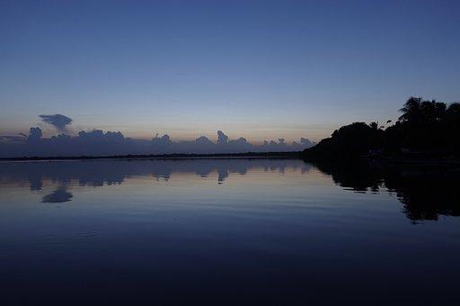 Sunset, Landscape, Nature, Sky, Water, Sea, Horizon