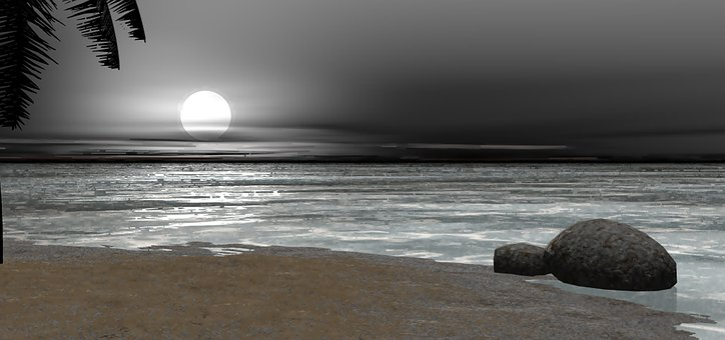 Sunset, Ocean, Landscape, Beach, Water, Dusk, Nature